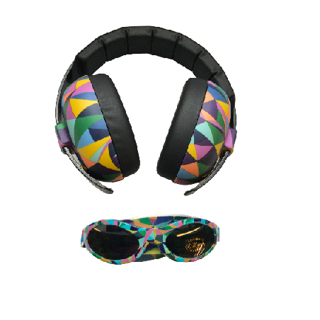 Banz - babyöronmuffar och solglasögon Kaleidoscope