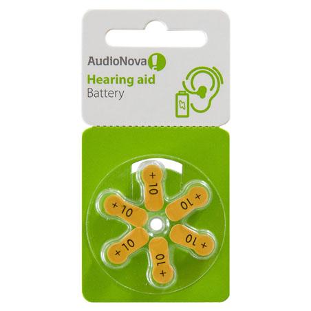 AudioNova Hörgerätebatterien Größe 10 Blister