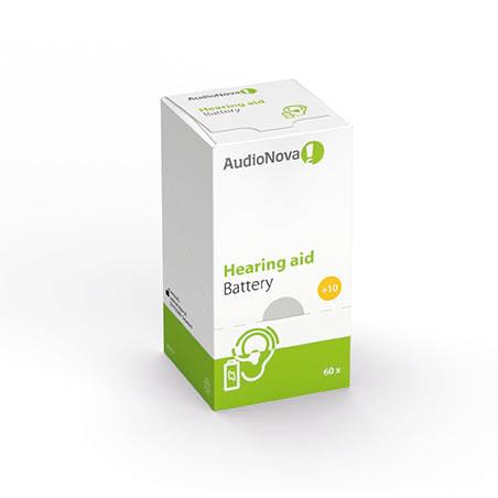 AudioNova Hörgerätebatterien Größe 10