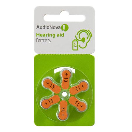 AudioNova Hörgerätebatterien Größe 13 Blister