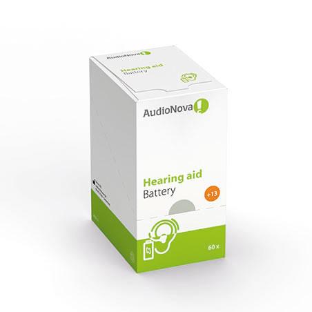 AudioNova Hörgerätebatterien Größe 13