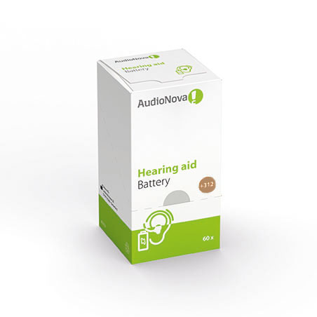 AudioNova Hörgerätebatterien Größe 312